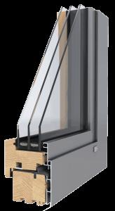 Unilux-Holz-Alu-Fenster